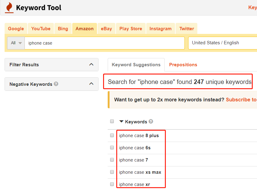 排名第一的亚马逊关键词工具